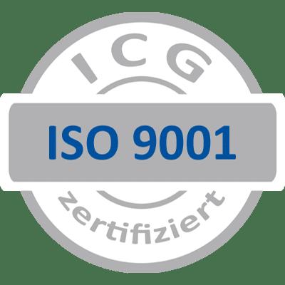 ISO 9001 серый синий ICG